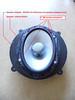 "Aftermarket speaker mounted to speaker adapter from   <a href=""http://www.car-speaker-adapters.com/items.php?id=SAK021""> Car-Speaker-Adapters.com</a>"