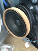 "Aftermarket speaker, MDF spacer, and   speaker adapter from  <a href=""http://www.car-speaker-adapters.com/items.php?id=SAK006""> Car-Speaker-Adapters.com</a>   installed on door."
