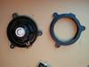 "Comparison (rear view): <br> Left: Factory speaker <br> Right: Speaker adapter bracket   from  <a href=""http://www.car-speaker-adapters.com/items.php?id=SAK112""> Car-Speaker-Adapters.com</a>"