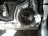 "Aftermarket speaker and speaker adapter bracket   from  <a href=""http://www.car-speaker-adapters.com/items.php?id=SAK112""> Car-Speaker-Adapters.com</a>   installed on door"