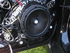 "Aftermarket speaker mounted to universal spacer and speaker adapter   from <a href=""http://car-speaker-adapters.com/items.php?id=SAK006""> Car-Speaker-Adapters.com</a>"