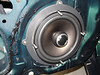 "Aftermarket speaker being installed in speaker adapter plate from <a href=""http://www.car-speaker-adapters.com/items.php?id=SAK049""> Car-Speaker-Adapters.com</a>"