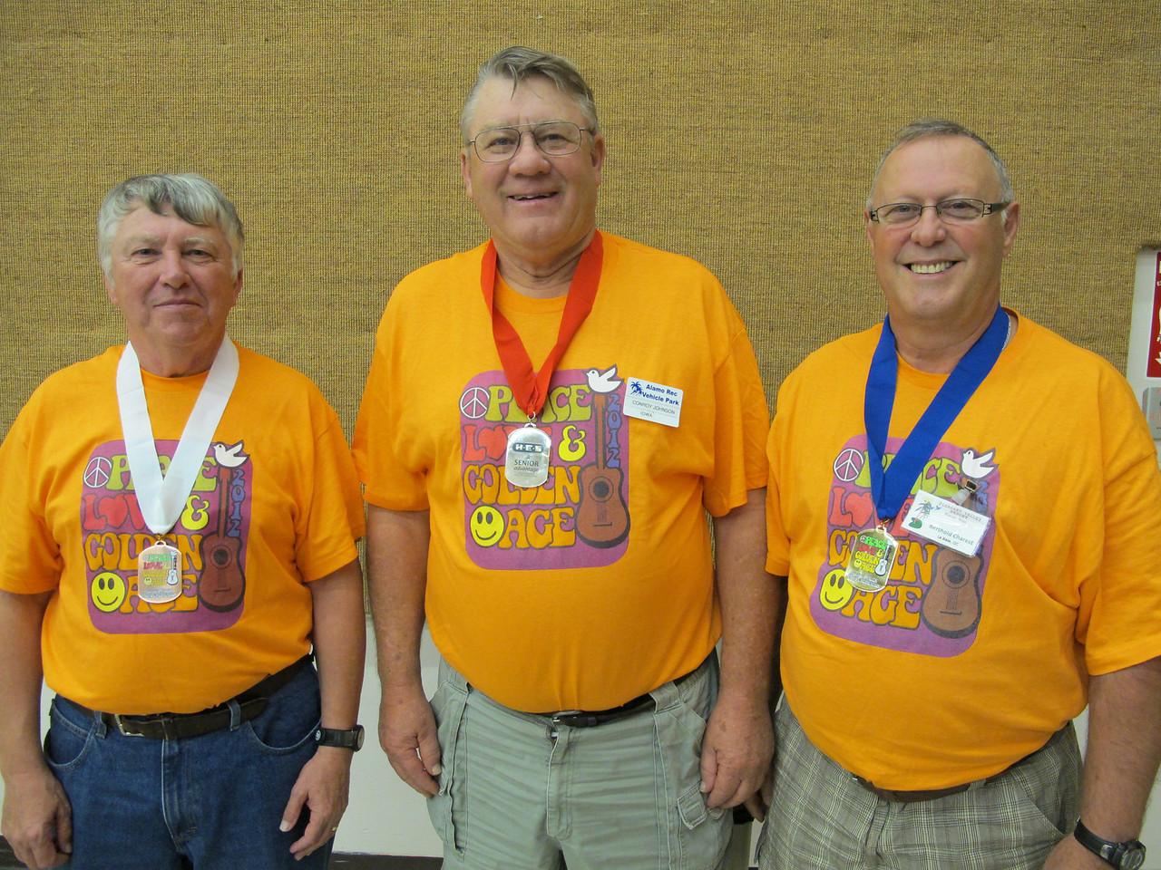 Men's Cribbage 3rd - 1st Place (L-R): Jack Halpin, Conray Johnson, Berthold Charest