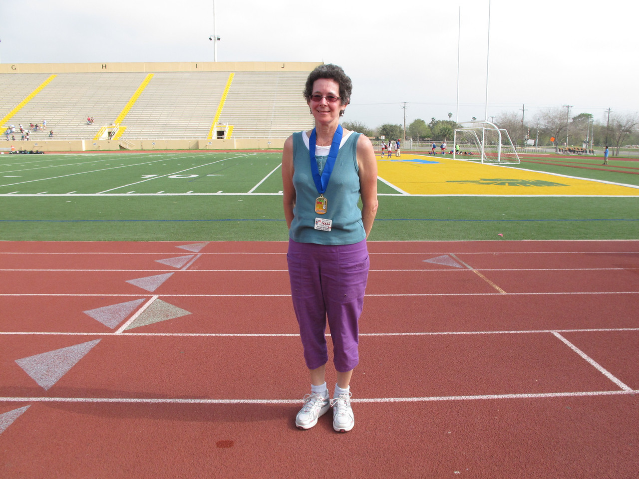 Racewalk Women 60-64 1st Place - Henrietta Anderson (Texan Mobile) Not Pictured 2nd Place - Kathryn Banks (Tropic Star), 3rd Place - Kathleen Cornwell (Tropic Star)
