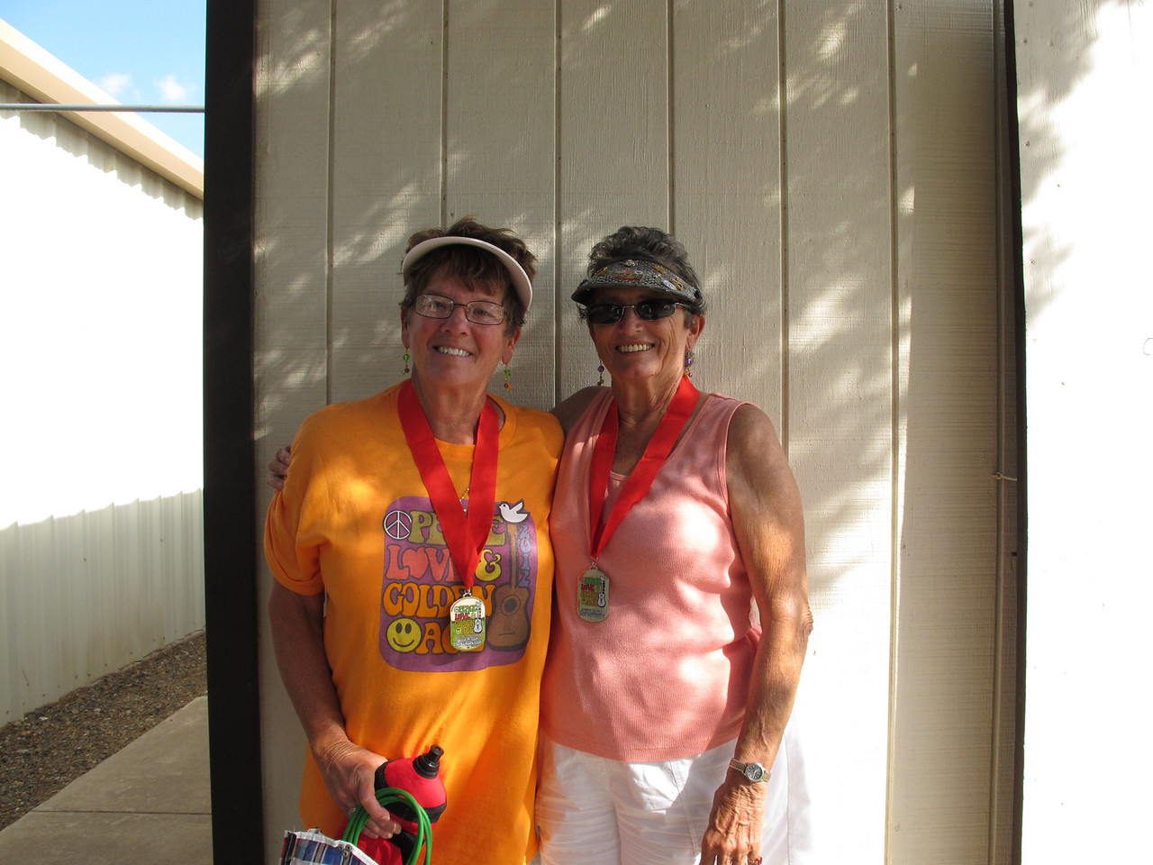 Shuffleboard Women's Doubles Expert 2nd Place - Kathy Lamphere (Ranchero Village) & Betty Hall (Snow to Sun)
