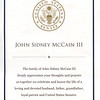 This card was distributed at ceremony where John McCain was lying in state (REVERSE SIDE).