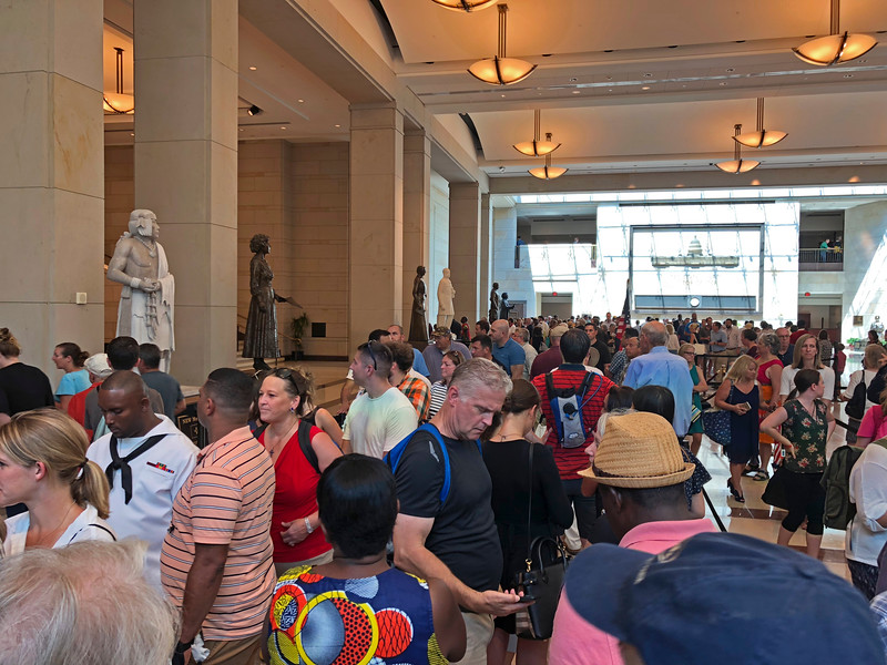 Thousands of citizens stood in queue for hours to pay their respects to John McCain in the Capitol Rotunda on Friday, Aug. 31.