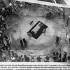 This image from the Washington Post reveals the casket of John McCain lying in state in the Capitol as visitors look on. I was proud to salute Commander McCain from the open area to the lower right in front of the catafalque. Copyright 2018, The Washington Post.