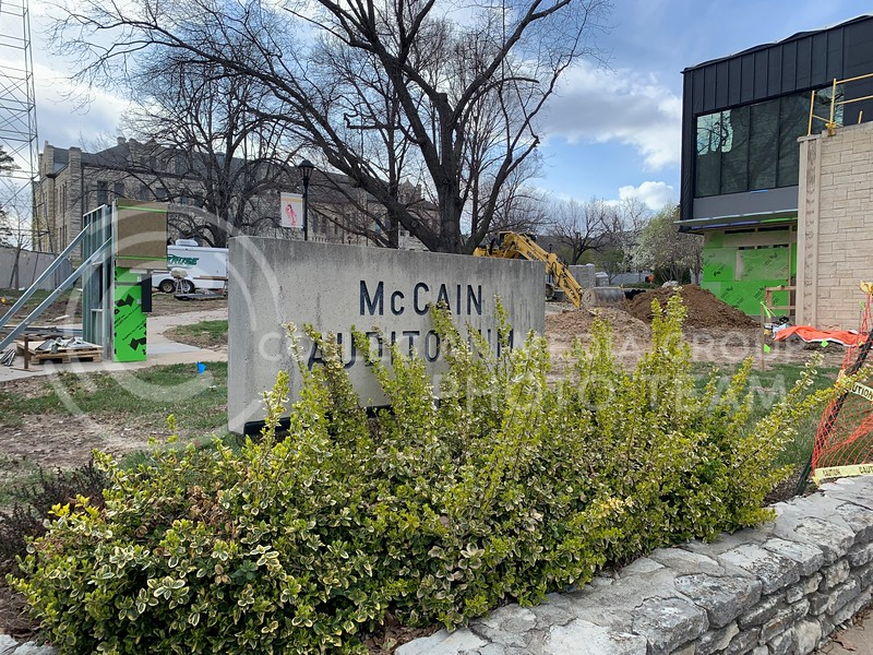 McCain Auditorium undergoes renovations during this school year. (Sophie Osborn | Collegian Media Group)