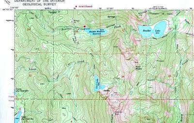 Boulder Lake topo