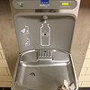 McCarthy Middle School was one of three Chelmsford schools that recently tested positive for copper and lead in the water. Town Facilities Director Kathleen Canavan and Principal Kurt McPhee showed a few of the water fountains that will be replaced with new one to help solve the issue. This is one of the new fountains in one of the hallways at the school. There are many more that need to be changed. SUN/JOHN LOVE