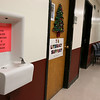 McCarthy Middle School was one of three Chelmsford schools that recently tested positive for copper and lead in the water. Town Facilities Director Kathleen Canavan and Principal Kurt McPhee showed a few of the water fountains that will be replaced with new one to help solve the issue. SUN/JOHN LOVE