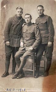 Jimmy, Elvie & Perry Hankins, France, 1918