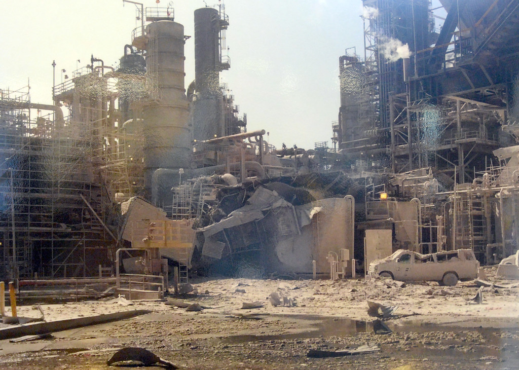 . The U.S. Chemical Safety Board released its final report on the 2015 Torrance ExxonMobil refinery explosion Wednesday, May 03, 2017, Torrance.  A photograph on display shows the damage from the explosion. (Photo by Steve McCrank, Daily Breeze/SCNG)