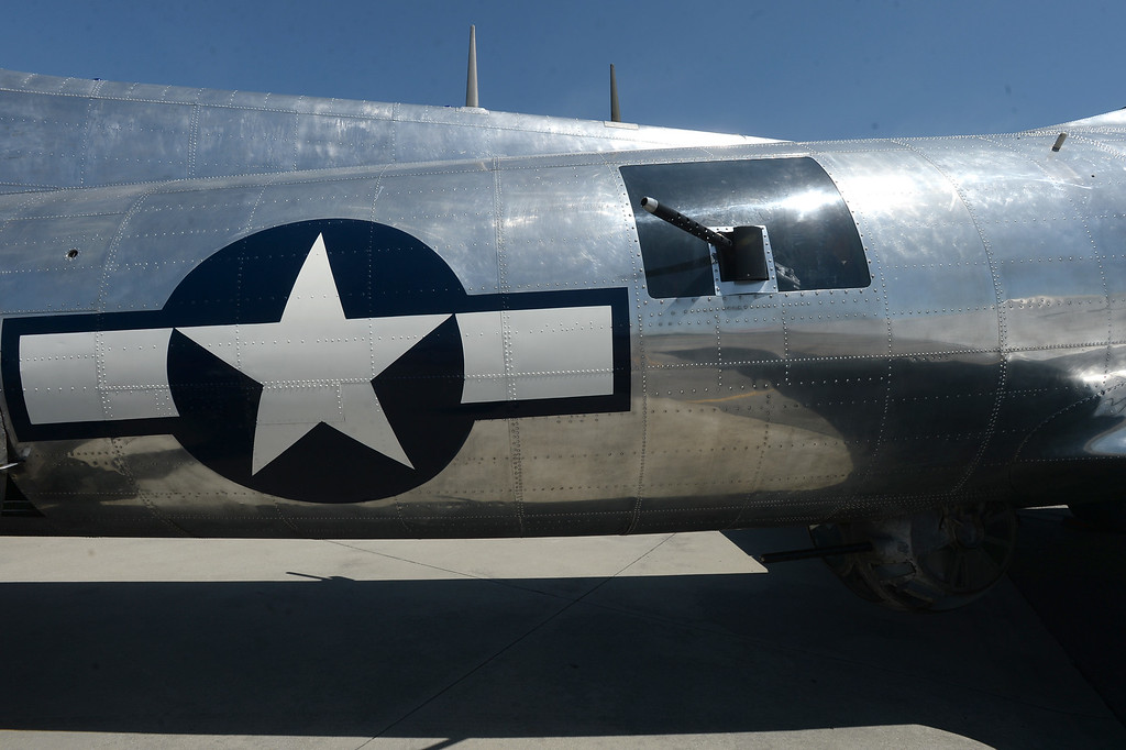 . The Liberty Foundation is bringing the WWII era B-17 bomber aircraft to the Long Beach Daugherty Field Airport for it\'s 2017 Salute to Veterans tour Monday, April 10, 2017, Long Beach.   The public can buy flights on the airplane Saturday and Sunday April 15-16, or take a ground tour for free.  The waist of the aircraft. (Photo by Steve McCrank, Press Telegram/SCNG)