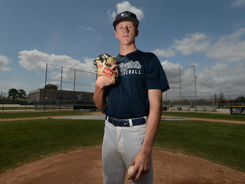 . Mayfair pitcher Landon Anderson and the baseball team are heading into playoffs. Monday, May 15, 2017, Lakewood, CA. (Photo by Steve McCrank, Daily Breeze/SCNG)