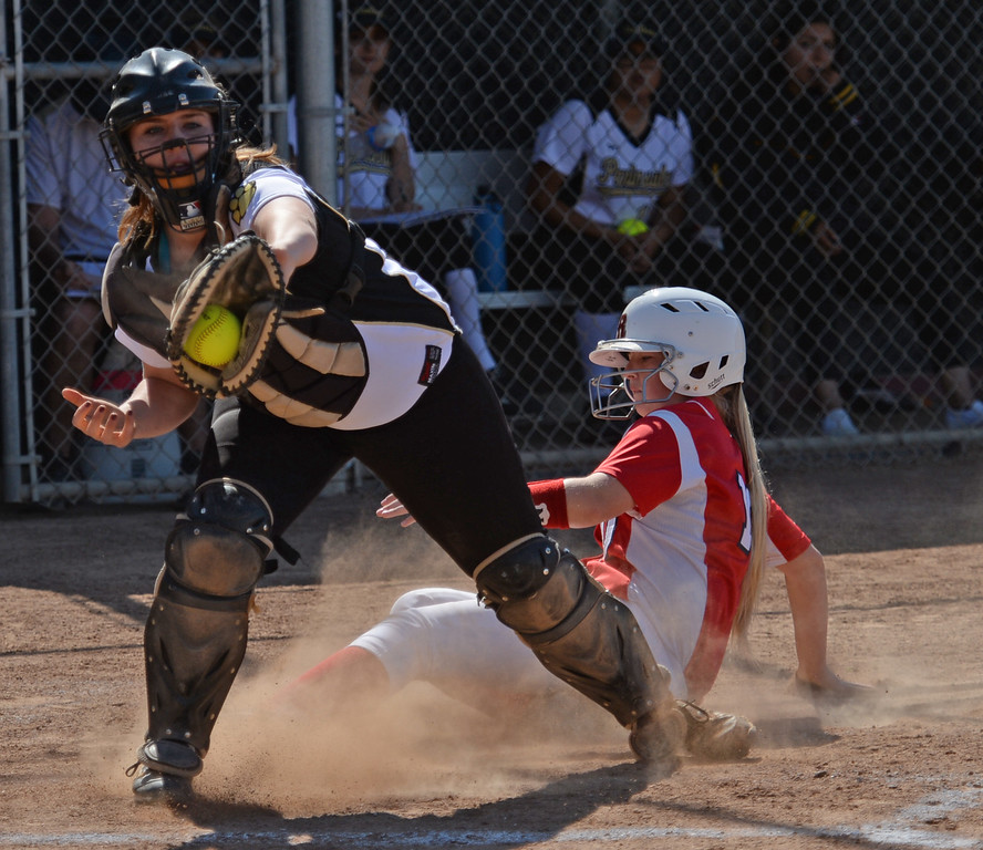 . Peninsula\'s Redondo\'s in a Bay League softball game Wednesday, April 19, 2017, Rolling Hills Estates. (Photo by Steve McCrank, Daily Breeze/SCNG)