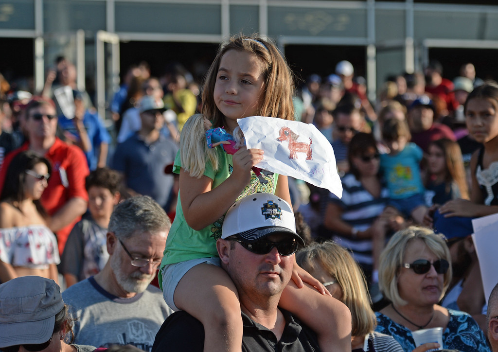 . It was standing room only for the 22nd Wienerschnitzel Wiener Nationals at Los Alamitos Race Course Saturday, July 22, 2017, Los Alamitos, CA.  (Photo by Steve McCrank, Daily Breeze/SCNG)
