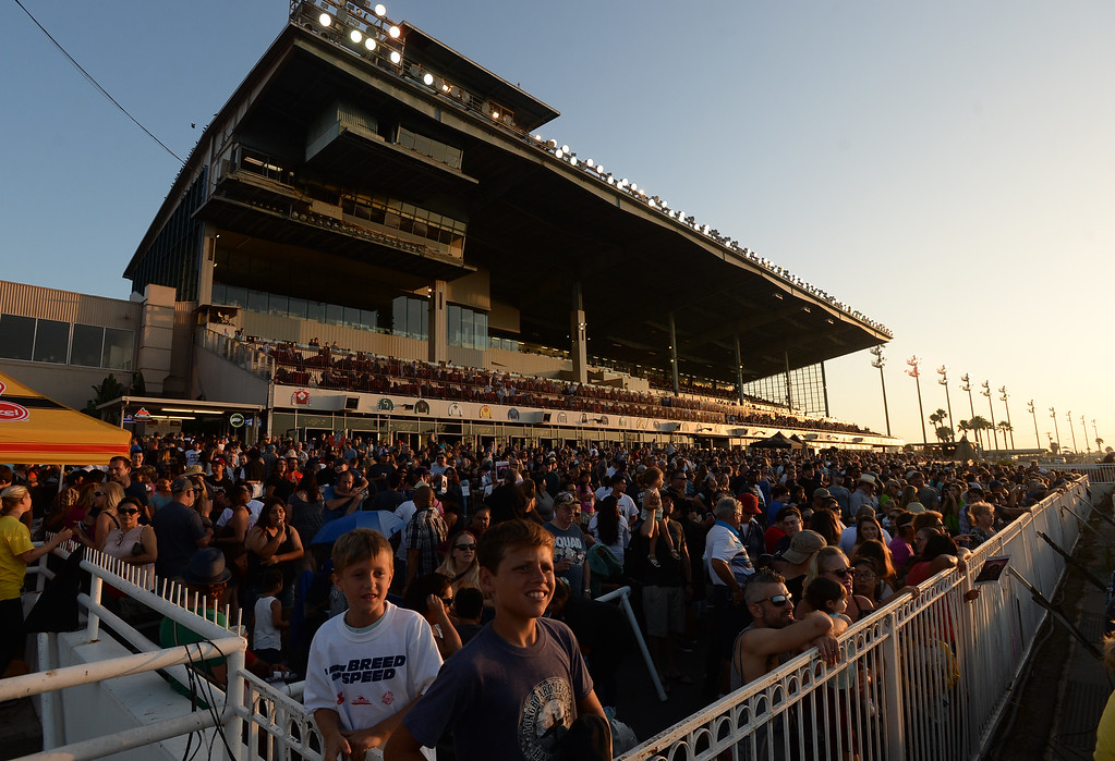 . Standing room only for the 22nd Wienerschnitzel Wiener Nationals at Los Alamitos Race Course Saturday, July 22, 2017, Los Alamitos, CA.  (Photo by Steve McCrank, Daily Breeze/SCNG)