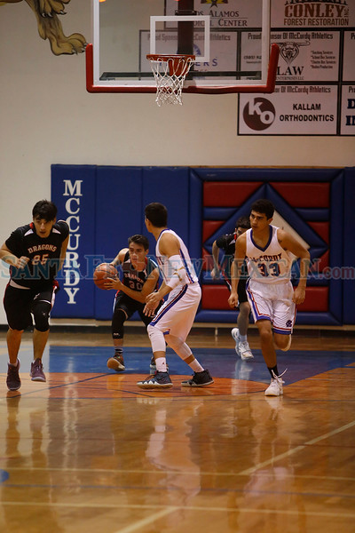 The first quarter of the McCurdy Charter School vs Monte del Sol Charter School boys basketball game at McCurdy on Thursday, February 14, 2019. Luis Sánchez Saturno/The New Mexican