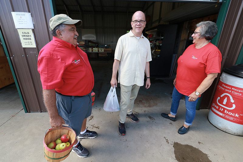 U.S. Congressman Jim McGovern was in the area on Wednesday doing his 2018 Farm Tour. He was discussing the 2018 farm bill and highlighting the uncertainty facing farmers following President Donald Trump's Administration's Tariffs. McGovern visited Sholan Farms in Leominster around noon during his tour. SENTINEL & ENTERPRISE/JOHN LOVE