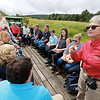 U.S. Congressman Jim McGovern was in the area on Wednesday doing his 2018 Farm Tour. He was discussing the 2018 farm bill and highlighting the uncertainty facing farmers following President Donald Trump's Administration's Tariffs. McGovern visited Sholan Farms in Leominster around noon during his tour. Sholan Farms President Joanne Dinardo, standing on right, gives a tour of the farm to McGovern, standing in back, and other state and local officials during the congressman's visit. SENTINEL & ENTERPRISE/JOHN LOVE