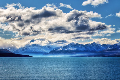 Mt Cook, in blue