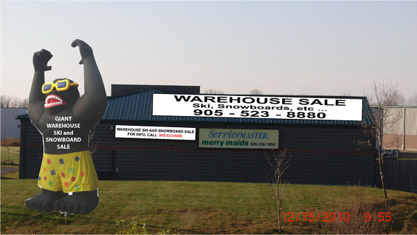 View of warehouse from Highway 6 with simulated signages