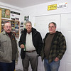Jim Price, Greg Barnwell, and Lyle Cordray in Lyle's shop.