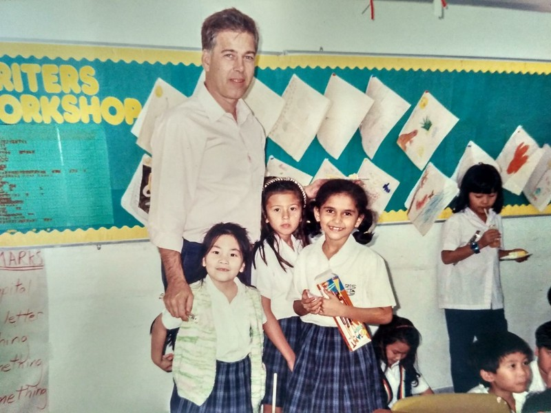 Greg Barnwell at his teaching job in Thailand.