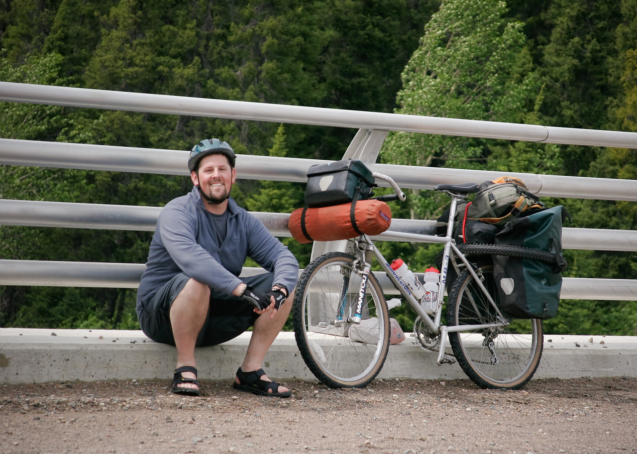 Taking a break on a bridge somewhere in the first, northern quarter of the 415km long gravel Cartwright-Blanc Sablon road.<br /> <br /> Location: The middle of nowhere. Labrador, Canada<br /> <br /> Lens used: 28-135mm f3.5-5.6 IS