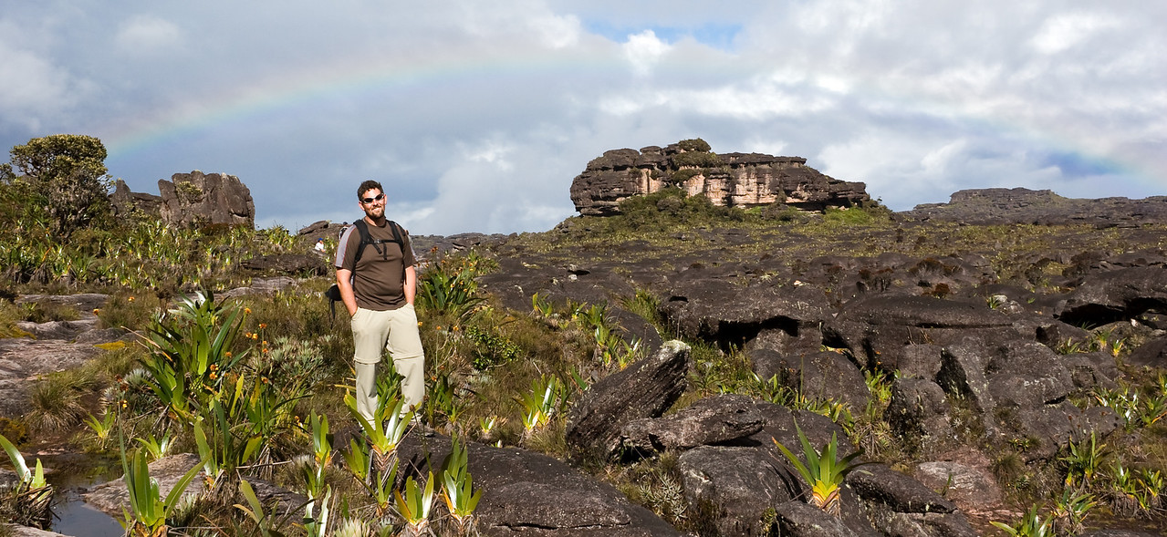Though tepui summits are pretty damp places, that isn't to say the sun (and rainbows!) never come out.<br /> <br /> Location: Mt. Roraima, Venezuela<br /> <br /> Lens used: 28-135mm f3.5-5.6 IS
