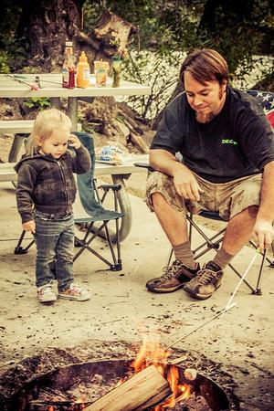 Campfire, Utah camping