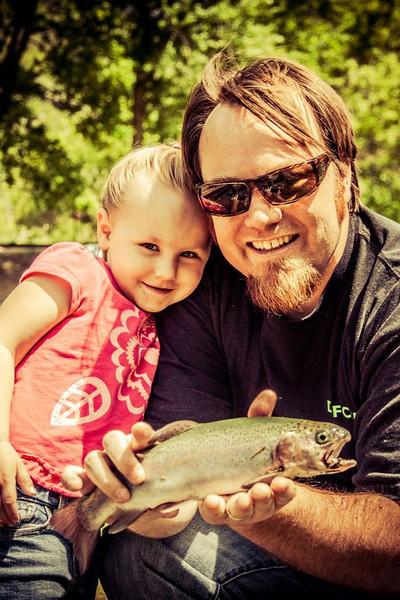 Me and my Daughter fishing in Utah