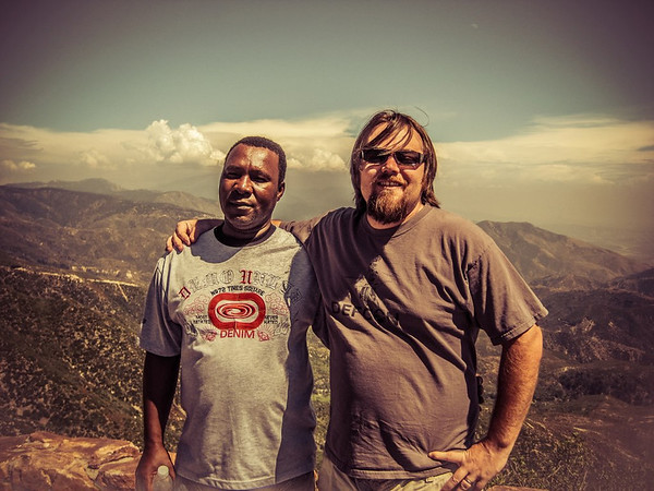 Me and my friend Devon from Jamaica