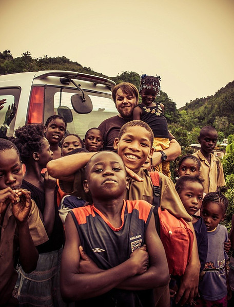 Me and some Jamaican kids in the jungle