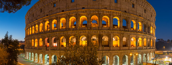 Coloseum at the blue hour
