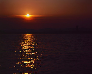 Sunset at Lake Hamana