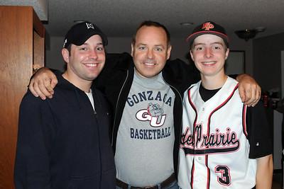 With nephews Matthew and Kyle in Eden Prairie.  June 13, 2011