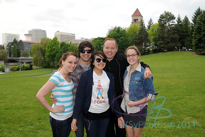Ashley, Phillip, Livia, Uncle Shawn and Delaney in Spokane.  May 29, 2011