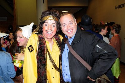 With The Pirate King (nephew Kyle) at Eden Prairie High School production of The Pirates of Penzance. November 17, 2012