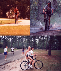Misc bike fun On OG Stumpy early '80s, leading Maclay School XC ~2000, tandem with BettyB at Forestmeadows ~'97. Photo credits?