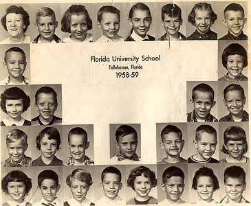 FHS 2nd Grade, 2nd in bottom row with psycho stare.