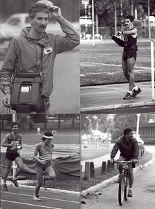 Yet mo running related photos Timing at Ultra and FSU track, running at FSU track, on my first mountainbike, an '83 Stumpjumper. Photo credits?