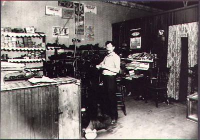 Grandpa in store 1923