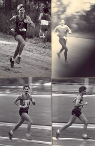 More running snaps, early '80s. Photo credits?