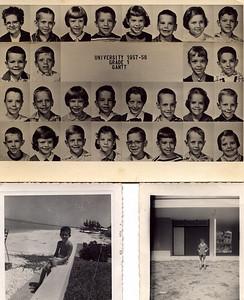 FHS 1st Grade 2nd row far right, beach bum, gnome as a tot.