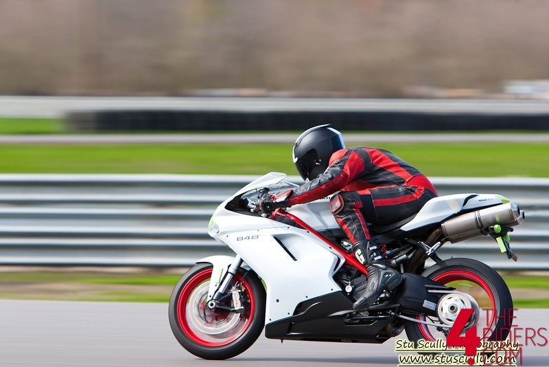 joe riding ducati 848 evo at NOLA