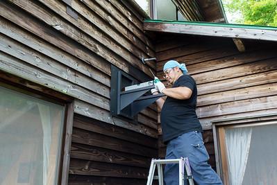 Cabin Stove Installation