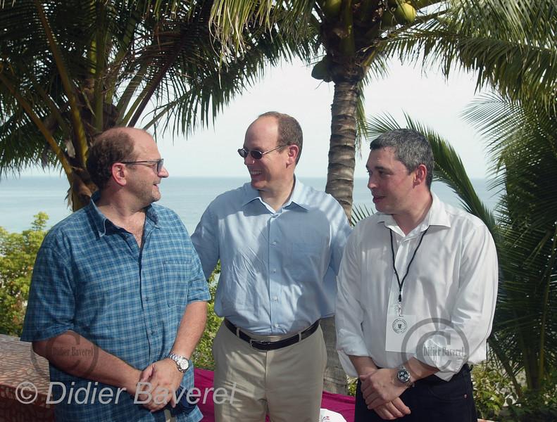 """27/11/2002  PANAMA CITY (PANAMA)  SAS ALBERT DE MONACO A CONTADORA EN COMPAGNIE DES """"BLUES BROTHERS"""""""
